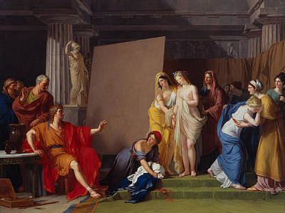 Zeuxis Painting - Zeuxis Choosing His Models For The Image Of Helen From Among The Girls Of Croton by Francois-Andre Vincent