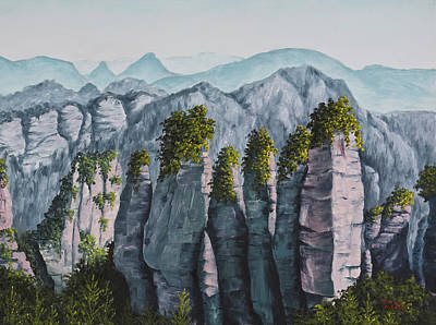 Painting - Zhangjiajie China by Darice Machel McGuire