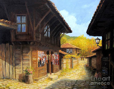 Zheravna In The Autumn Art Print by Kiril Stanchev