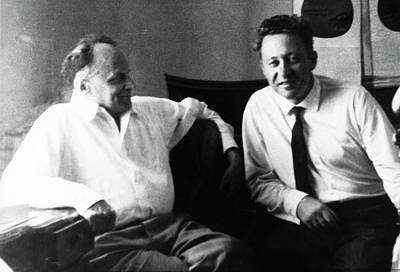 Aging Photograph - Zhores Medvedev And Vladimir Efroimson by American Philosophical Society