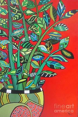 Painting - Zi Zi Plant II by Deborah Glasgow