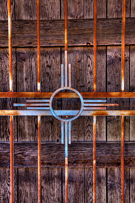 Photograph - Zia Sun Symbol Gate by David Patterson