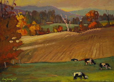 Berkshire Hills Painting - Ziemba Farm by Len Stomski