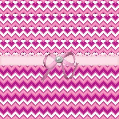 Valentines Day Digital Art - Zig Zag Hearts  by Debra  Miller