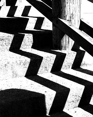 Photograph - Zig Zag Shadows by Robert  Rodvik