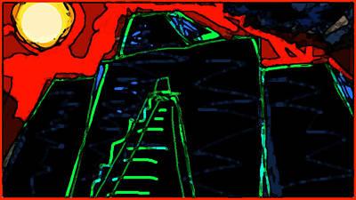 Paul Klee Drawing - Ziggurat Nites by Paul Sutcliffe