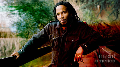 Color Mixed Media - Ziggy Marley  by Marvin Blaine