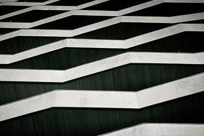 Balcony Photograph - Zigzag Balconies In Building by David Buedo