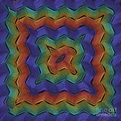 Zigzag Multi Art Print