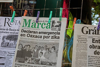Zika Newspaper Headlines Art Print