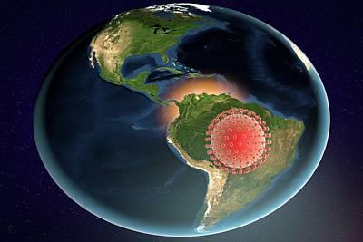 Zika Virus In Brazil Art Print by Kateryna Kon