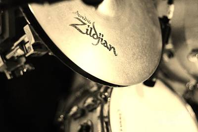 Photograph - Zildjian Hi-hat Sepia by Lynda Dawson-Youngclaus