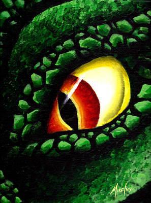 Painting - 'zilla's Eye On You by Michael Ivy