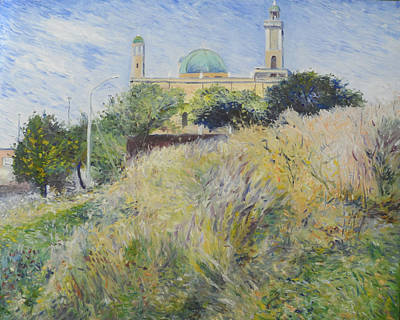 Painting - Zinatul Mosque District Six Cape Town South Africa 1999 by Enver Larney