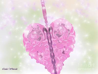 Art Print featuring the digital art Zing Went The Strings Of My Heart by Linda Whiteside