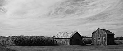 Zink Rd Farm 2 In Black And White Art Print