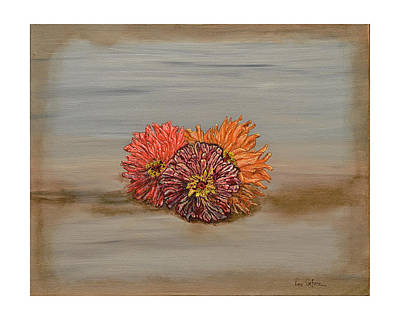Painting - Zinnia by Leo Gehrtz