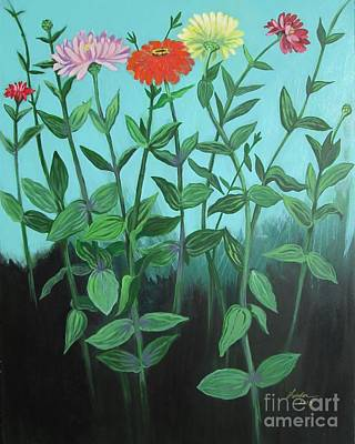 Painting - Zinnia Parade by J Linder