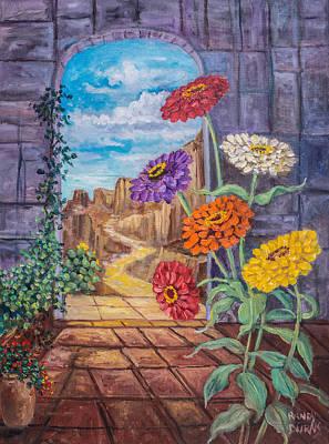 Painting - Zinnias De Mexico by Randy Burns