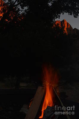 Photograph - Zion By Firelight by Brian Boyle