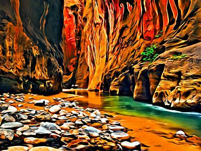 Painting - Zion Canyon by Florian Rodarte