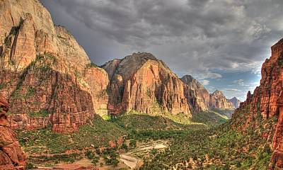 Photograph - Zion Canyon by Jeff Cook