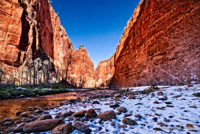 Photograph - Zion Canyon Winter by Christopher Holmes