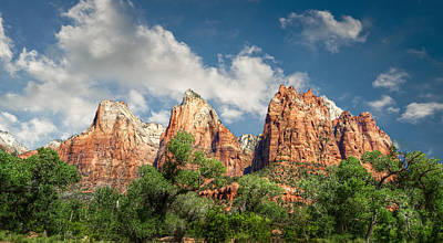 Photograph - Zion Court Of The Patriarchs by Tammy Wetzel