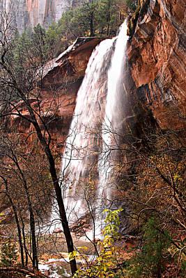 Photograph - Zion Falls by Darryl Wilkinson
