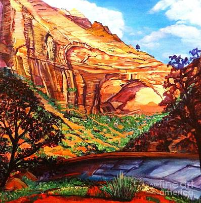 Painting - The Great Arch Of Zion by Ecinja Art Works