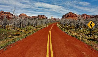 Photograph - Zion Highway by Benjamin Yeager
