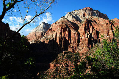 Photograph - Zion In The Shadows by Robert  Moss