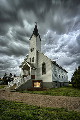 Wind Photograph - Zion Luthern Church by Thomas Zimmerman