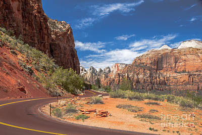 Photograph - Zion Mount Carmel Highway by Robert Bales
