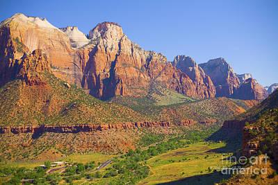 Zion Mountain Range Art Print