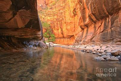 Photograph - Zion Narrows Bend by Adam Jewell