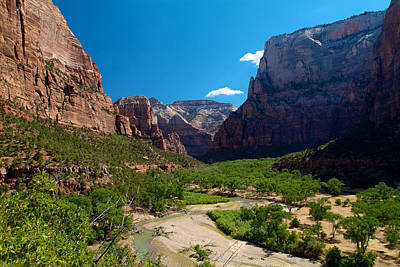 Photograph - Zion National Park 7 by Richard J Cassato