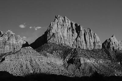 Photograph - Zion National Park Black And White by Robert  Moss