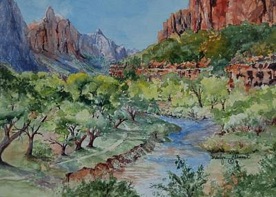 Painting - Zion National Park by Marilyn  Clement