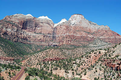 Photograph - Zion National Park Mountains by Debra Thompson