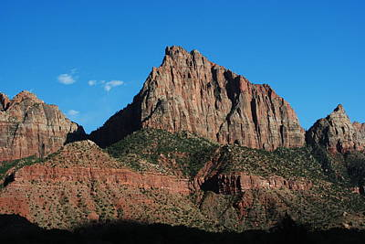 Photograph - Zion National Park Peaks by Robert  Moss