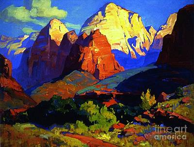 Zion Park Painting - Zion Park  by Pg Reproductions