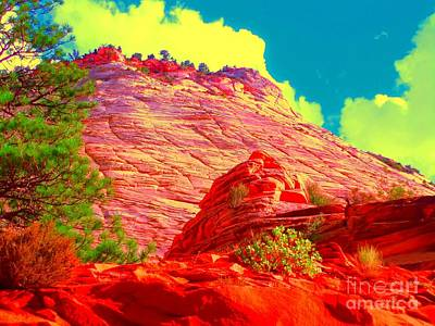 Zion Rising Art Print by Ann Johndro-Collins