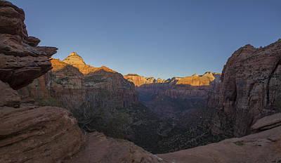 Zion Canyon Photograph - Zion Sunrise by Jeremy Jensen