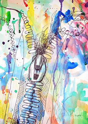 Zip It Art Print by Josie Duff