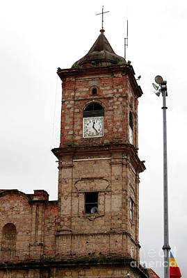 Photograph - Zipaquira Cathedral Clock by John Rizzuto