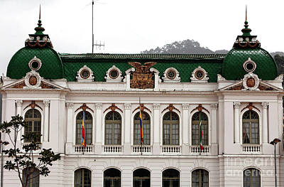 Photograph - Zipaquira City Hall by John Rizzuto