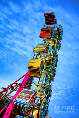 Funfair Photograph - Zipper by Olivier Le Queinec