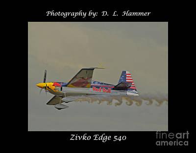 Zivko Edge 540 Art Print by Dennis Hammer