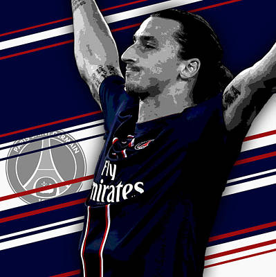 Case Photograph - Zlatan Ibrahimovic Psg Print by Pro Prints